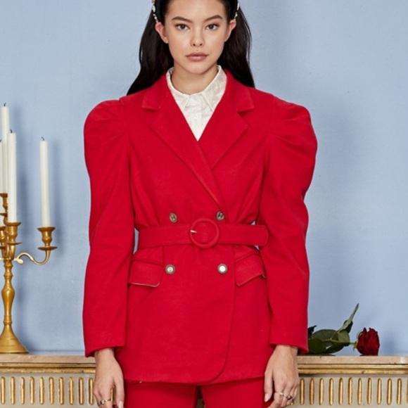 Sale! New sister Jane red belted jacket